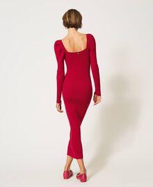 "Knit sheath dress ""Cerise"" Fuchsia Woman 202MP3055-04"