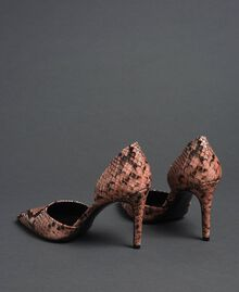 Animal print leather court shoes Mousse Pink Python Print Woman 192TCP150-05