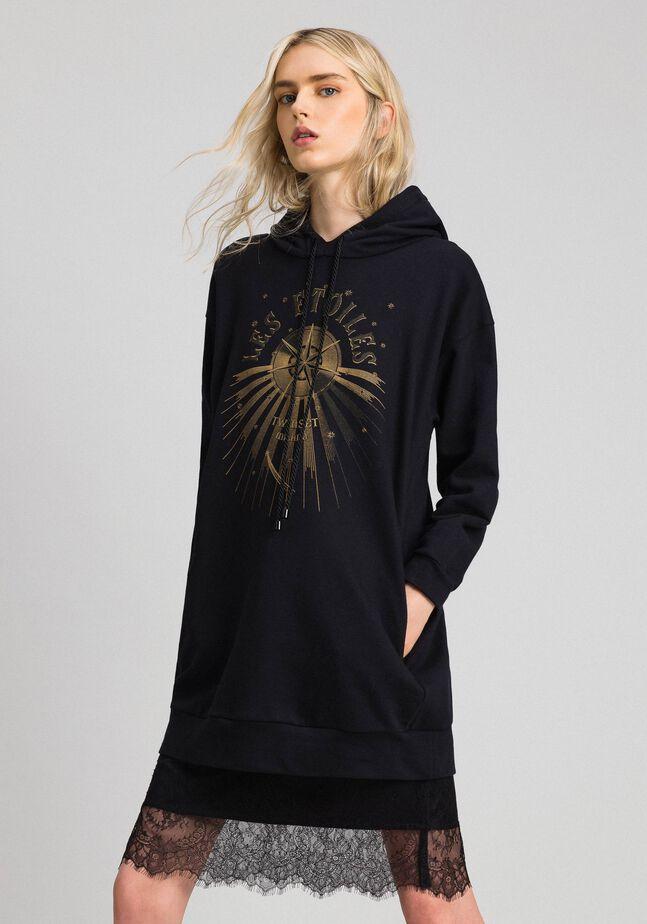 Oversize sweatshirt with print in front