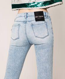 Jean push-up avec cinq poches Bleu Denim Femme 201MP227K-04