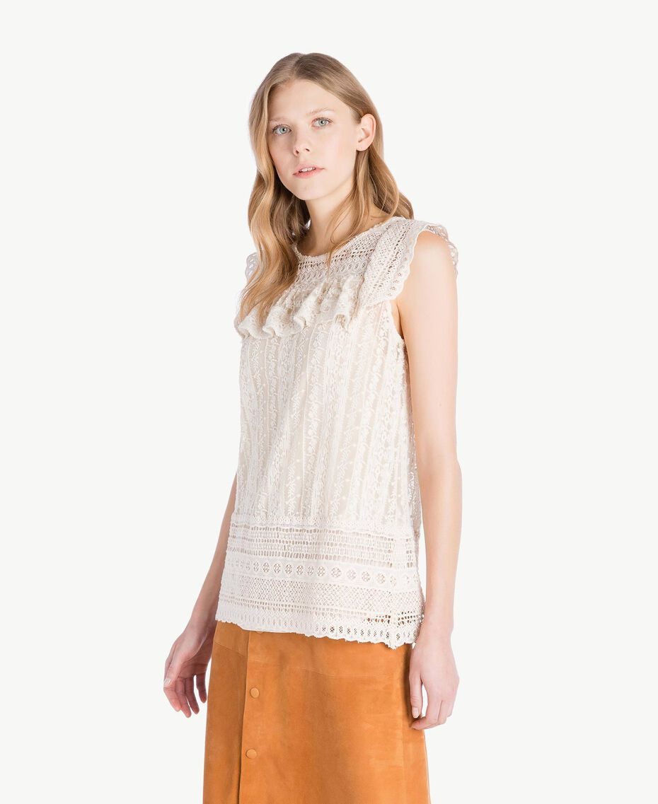 Lace blouse Mother Of Pearl Woman TS82CC-02