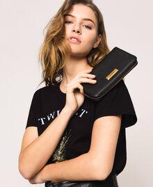Bea Bag zip around leather wallet Black Woman 201TA7032-0S