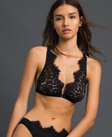 Soutien-gorge triangle avec dentelle Noir Femme 192LI6122-01