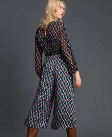 Trouser-skirt with print and pleats Fox Geometric Print Woman 192ST2142-03