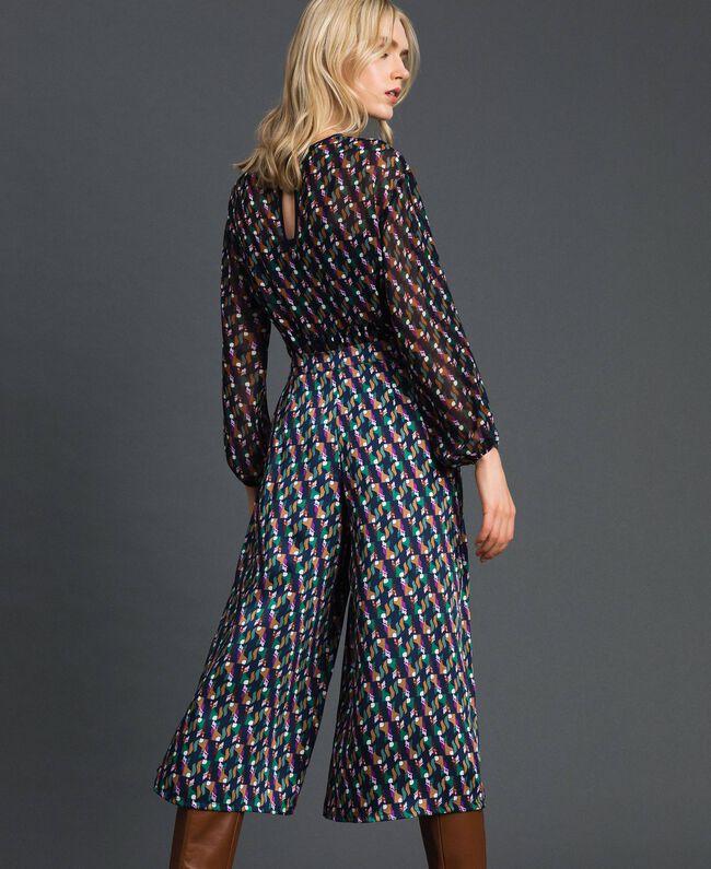 Jupe-culotte avec imprimé et plis Imprimé Géométrique Renard Femme 192ST2142-03