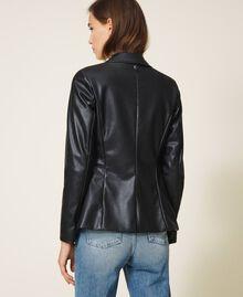 Faux leather blazer Black Woman 202MP2092-03