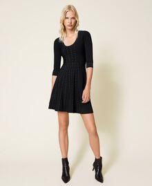 Robe en maille avec clous Noir Femme 212TP3040-05