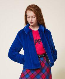 Куртка из искусственного меха Темно-васильковый Pебенок 202GJ281A-01