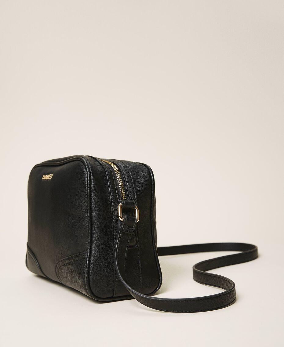Shoulder bag with dual compartment Black Woman 202TB7032-01