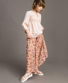 Sandales en cuir Rose En fleur Enfant 191GCJ100-0S