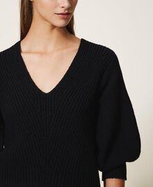 Jersey de lana mixta Negro Mujer 202MP3162-04