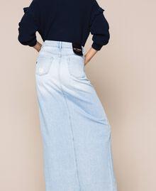 Jupe longue en jean Bleu Denim Femme 201MP2282-05