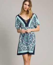 Abito in crêpe de Chine stampa foulard Stampa Dressing Scarf Blunight Donna 191MT2123-02