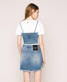 Minigonna in jeans asimmetrica Denim Blue Donna 201MT2347-03
