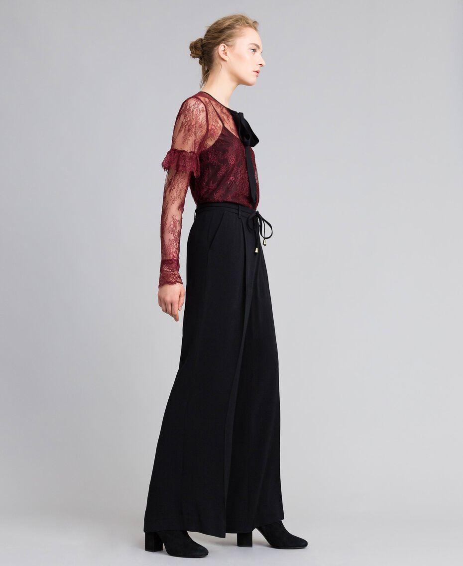 Valencienne lace multi-colour shirt Bordeaux Woman PA82FR-02
