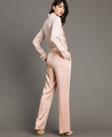 "Cady envers satin trousers ""Nude"" Beige Woman 191TP2691-03"