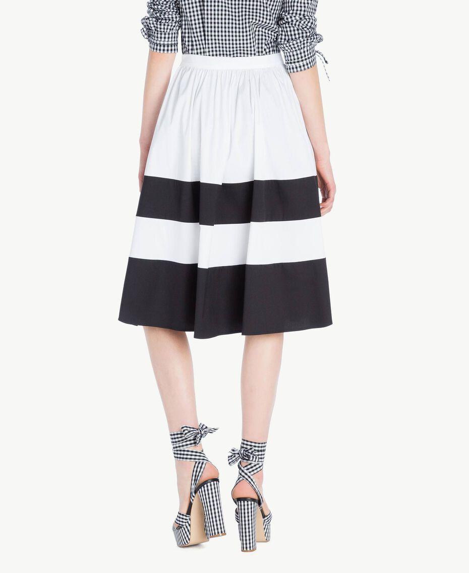 Jupe popeline Blanc Optique / Noir Femme YS82FD-03