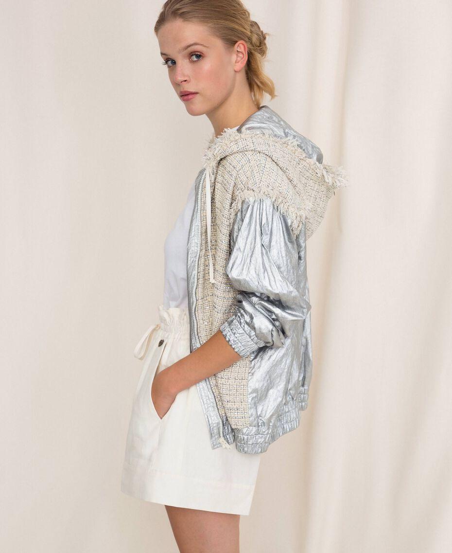 Short en lin mélangé Blanc Neige Femme 201TP2255-02