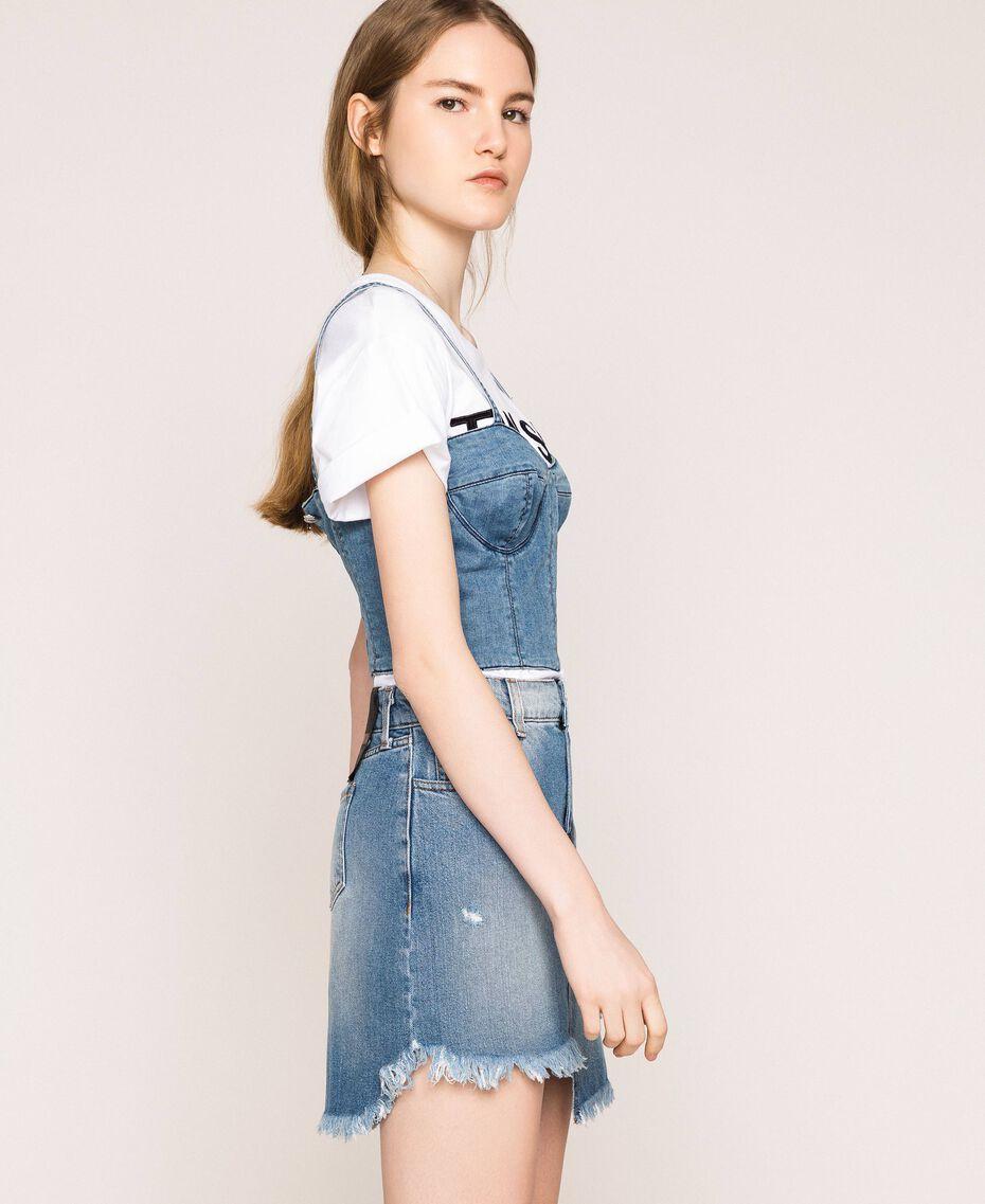 Minigonna in jeans asimmetrica Denim Blue Donna 201MT2347-02