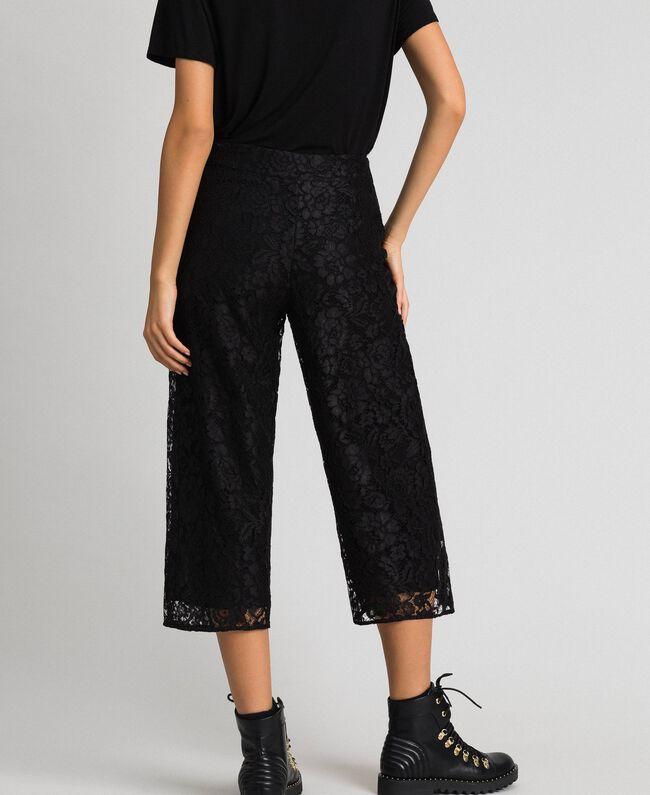 Укороченные брюки из кружева макраме Черный женщина 192MP2491-03