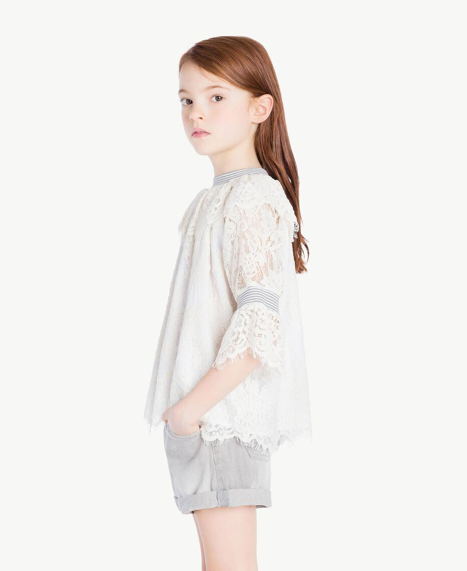 Lace blouse Pale Cream Child GS82UR-03