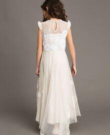 Длинное платье из муслина с вышивкой Двухцветный Шантийи / Кремовый Pебенок 191GJ2Q30-03