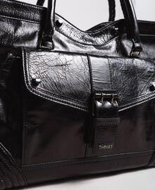 Rebel leather shopping bag Black Woman 191TA7235-04