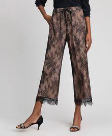 Pantaloni a palazzo in pizzo Nero Donna 192TP258E-01