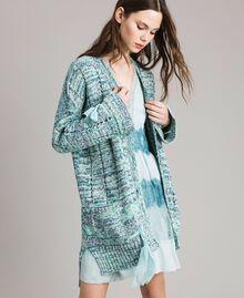 """Maxi cardigan avec rubans Multicolore Fantaisie Bleu """"Mikonos"""" Femme 191TP3280-01"""