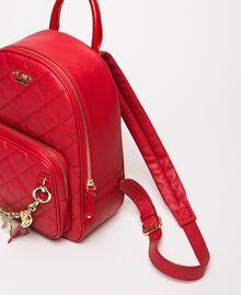 Рюкзак из стеганой искусственной кожи с шармами Красный Венецианский женщина 201MA7042-01