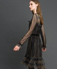 Lurex lace dress Black Woman 192TT2363-05