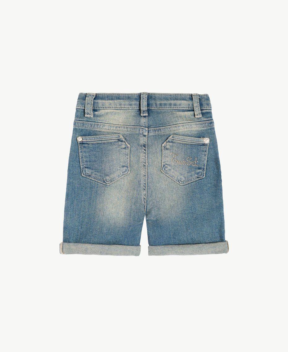 "Denim shorts ""Mid Denim"" Blue Child FS82T2-02"