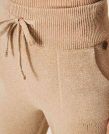 Pantalon de jogging en cachemire et laine Beige «Pastel Skin» Femme 202TT3014-05