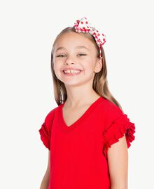 Frilled dress Pomegranate Red Child GS82KP-05