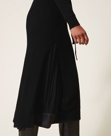Wool blend dress with slip Black Woman 202TT3053-05