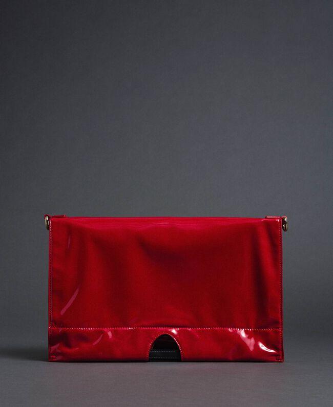 Большая складная сумка-шоппер из искусственной кожи Красный Гранат женщина 192TA7173-05