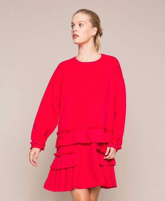 Блуза из жоржета с плиссировкой