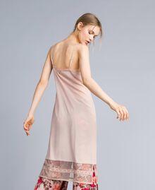 """Crêpe de Chine slip dress """"Nude"""" Beige Woman SA82H5-03"""