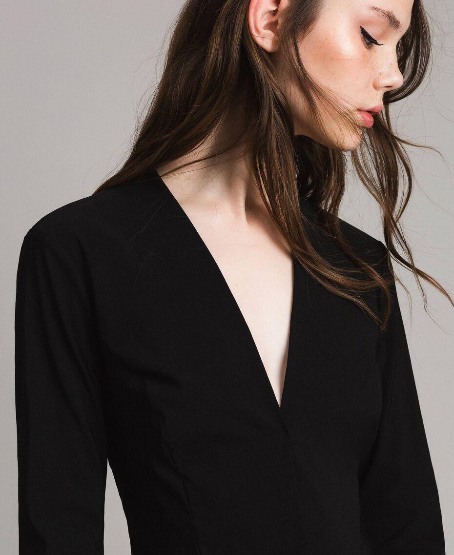 Cotton cropped jacket Black Woman 191LB22EE-01