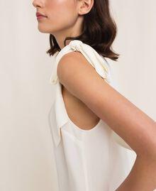 One-shoulder silk blouse White Snow Woman 201TP2500-03