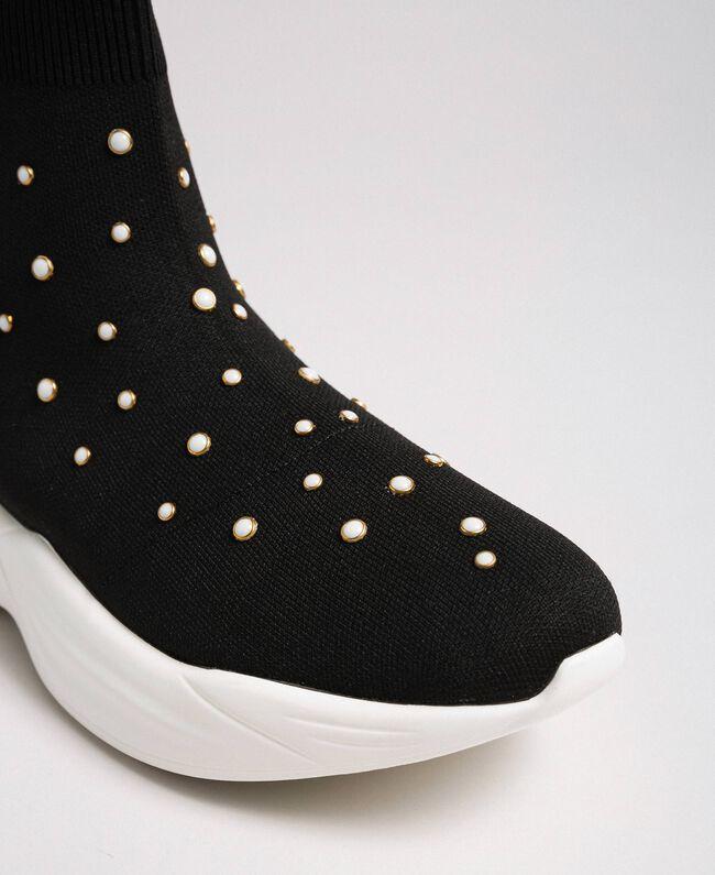 Perles De Maille Milano En Chaussures Running Avec FemmeNoirTwinset KcFTl1J