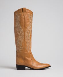 Texas boots with embroidery Tobacco Woman 192TCT06A-02