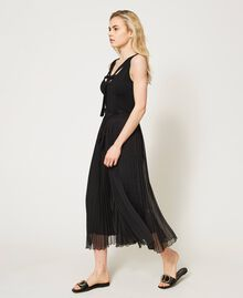 Pantaloni in mussola plissé Avorio Donna 211LM2LBB-02