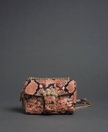 Small Rebel shoulder bag with python print Mousse Pink Python Print Woman 192TA7231-03