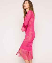 Lace stitch dress with fringes Black Woman 201TT3010-02