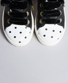 Leather scalloped sneakers Black Child HA88CC-04