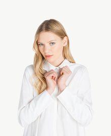 Maxi chemise asymétrique Blanc Femme JS82DL-04