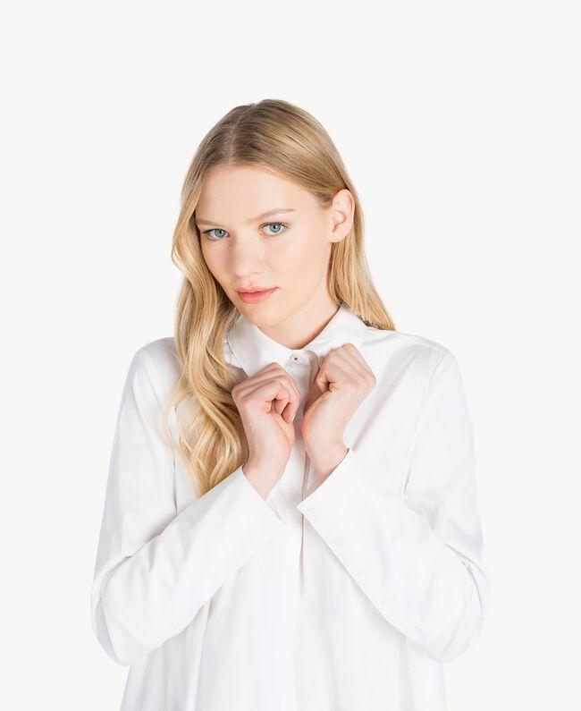 Maxi asymmetric shirt White Woman JS82DL-04