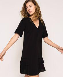 Платье из жоржета с плиссировкой Черный женщина 201TP2026-04