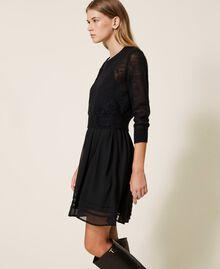 Robe nuisette et pull en mohair Noir Femme 202TP3262-02